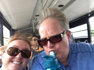 Even bus rides are fun in Hawaii!